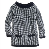 Girls' bateau sweater in check