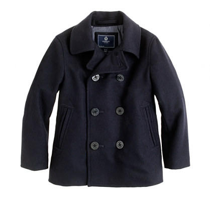 Boys' city peacoat : outerwear | J.Crew