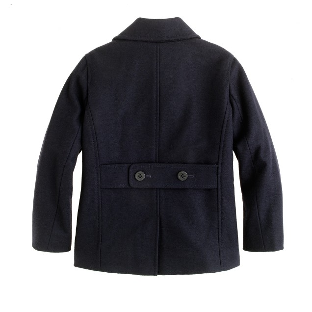 Boys' city peacoat