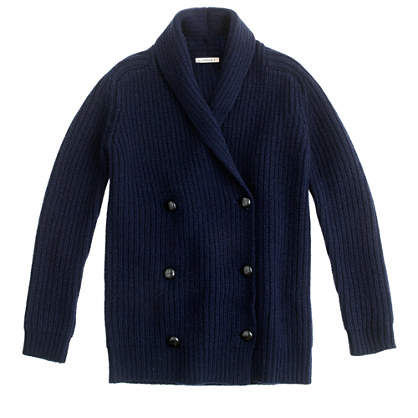 Girls' shawl-collar sweater-jacket