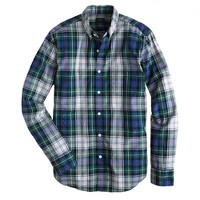 Secret Wash shirt in gravel plaid