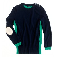 Dream colorblock elbow-patch sweater