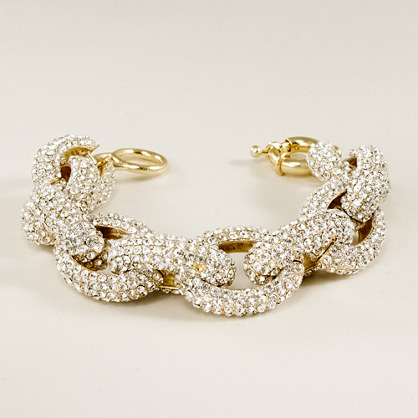 Pavé cable link bracelet