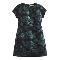 Girls' metallic jacquard dress