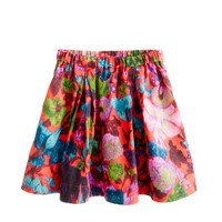 Girls' pull-on party skirt in flame floral