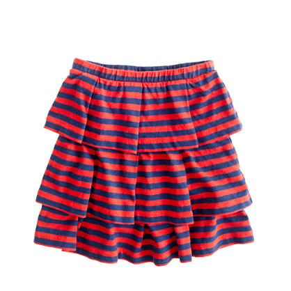 Girls' cupcake skirt in stripe