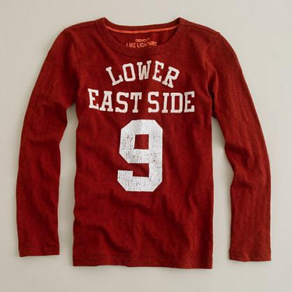Boys' long-sleeve lower east side slub tee
