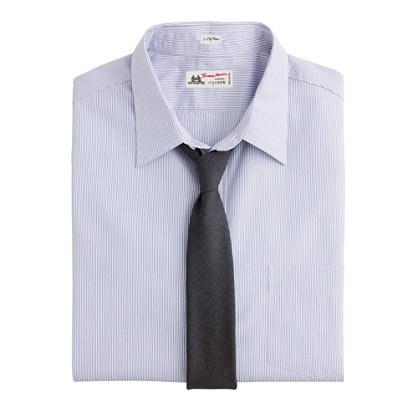 Thomas Mason® for J.Crew point-collar dress shirt in Watermill stripe