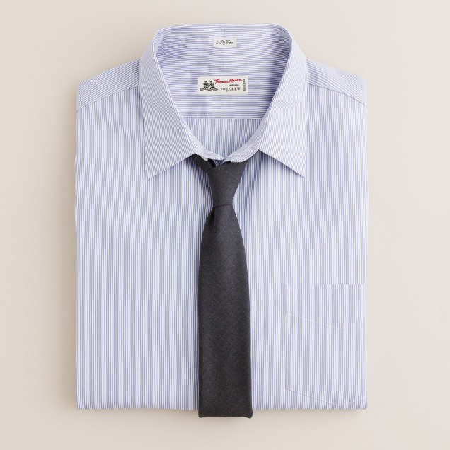 Thomas Mason® for J.Crew point-collar dress shirt in Watermill stripe