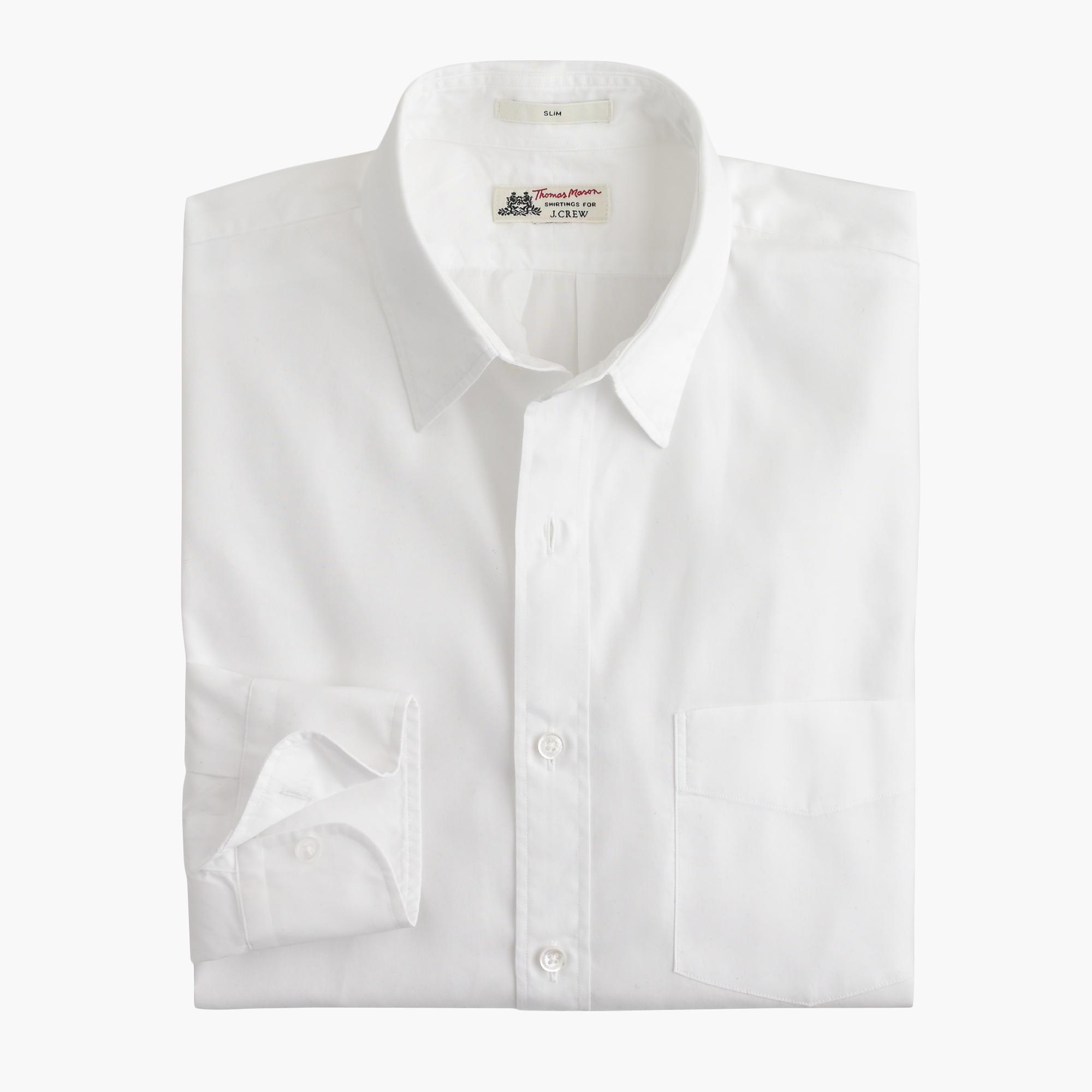 Slim thomas mason for j crew shirt men 39 s shirts j crew for Thomas mason dress shirts