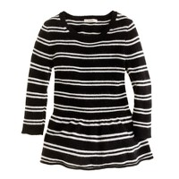 Girls' peplum sweater in stripe