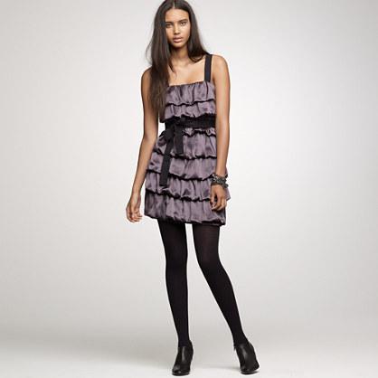 Tiered silk ruffle dress