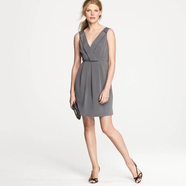 Petite Aveline dress in washed crepe