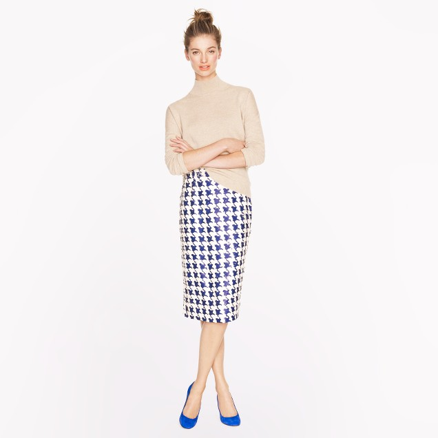 Collection No. 2 pencil skirt in houndstooth sequin