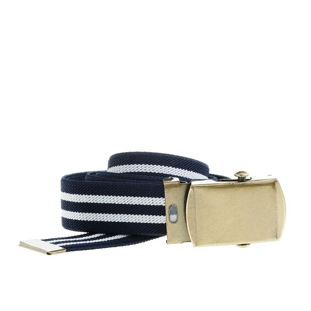 Boys' stripe elastic belt