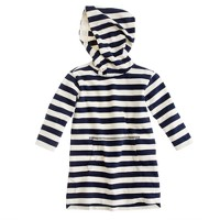 Girls' stripe hooded tunic