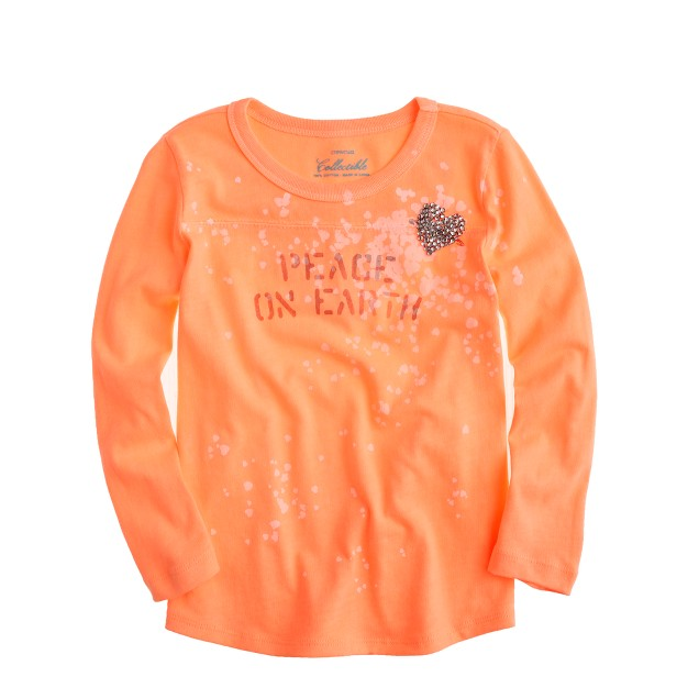 Girls' peace tee