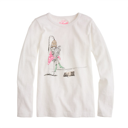 Girls' long-sleeve beauty parlor tee