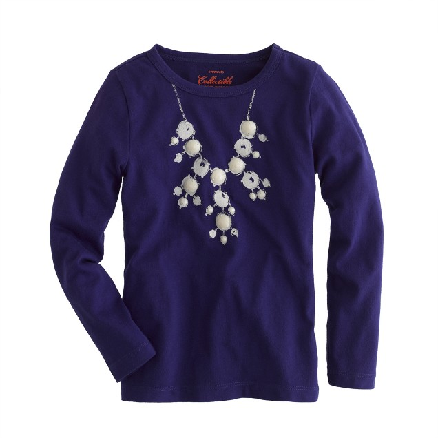Girls' bubble necklace tee