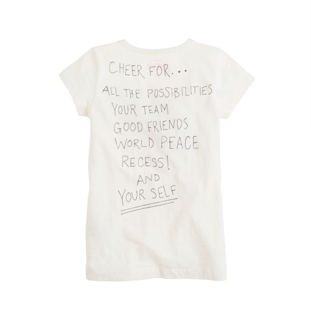 Girls' cheer tee