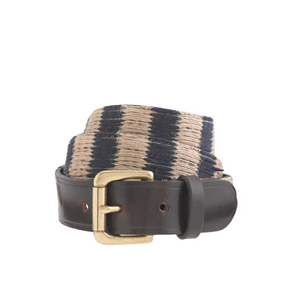 Stripe jute belt