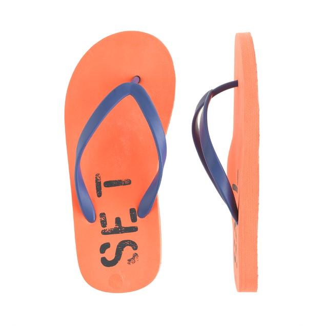 Kids' set sail flip-flops
