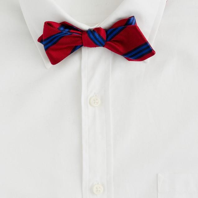 Keats-stripe bow tie