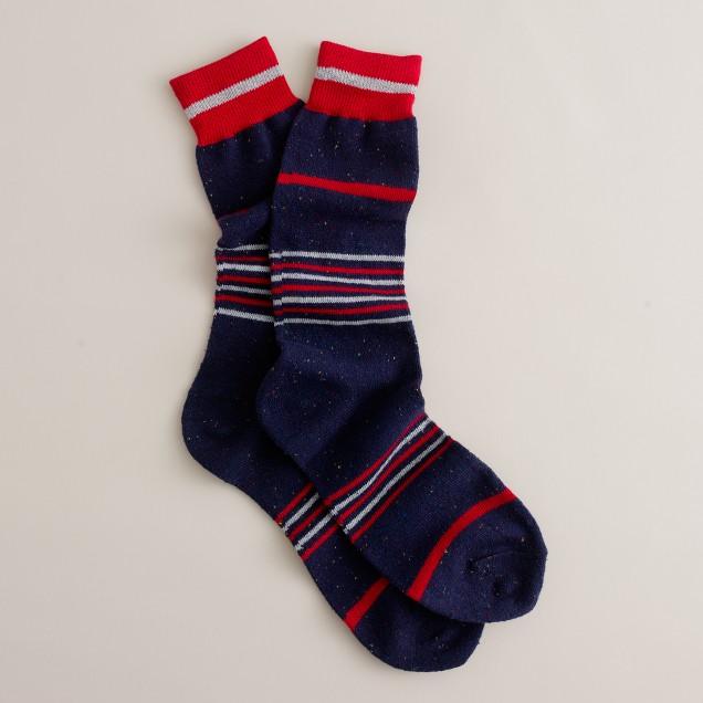 Navy Donegal socks