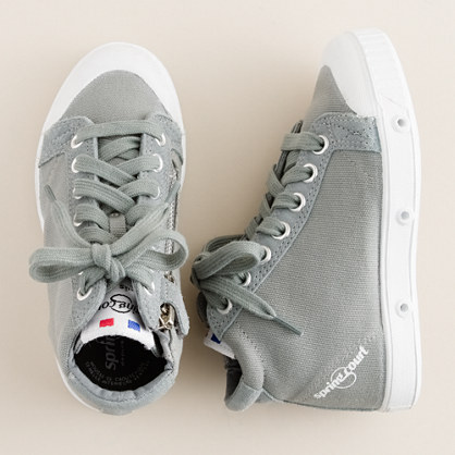 Kids' Spring Court® canvas zip high-tops