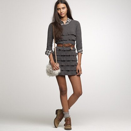 Cotton-wool ruffle dress