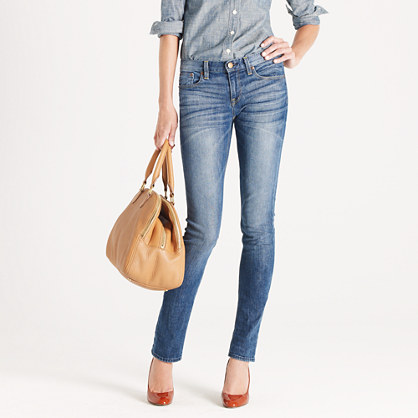 Downtown skinny jean in pearly blue wash