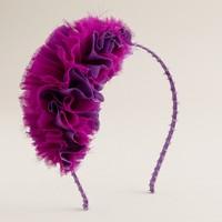 Girls' ruffle headband