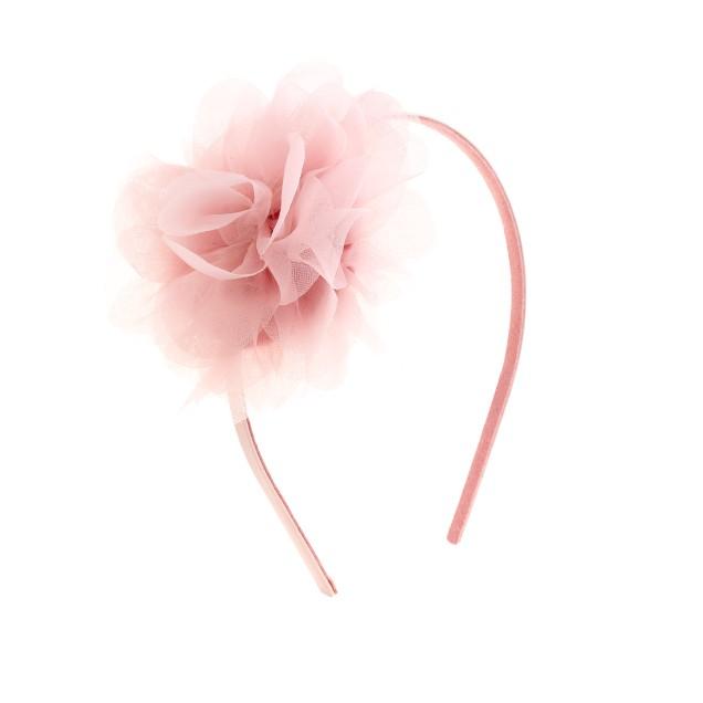 Girls' floral flair headband