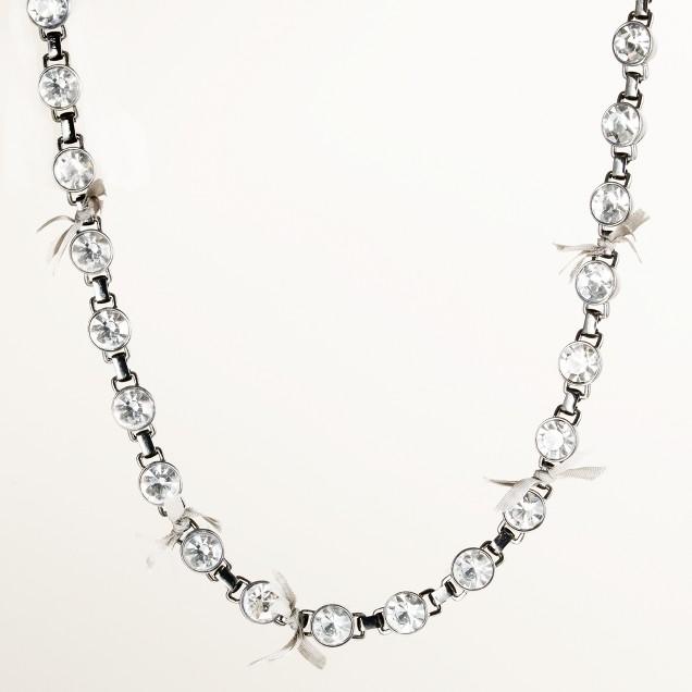 Bow-tie crystal necklace