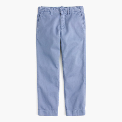 Boys' garment-dyed chino pant in slim fit