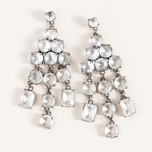 Crystal parade chandelier earrings
