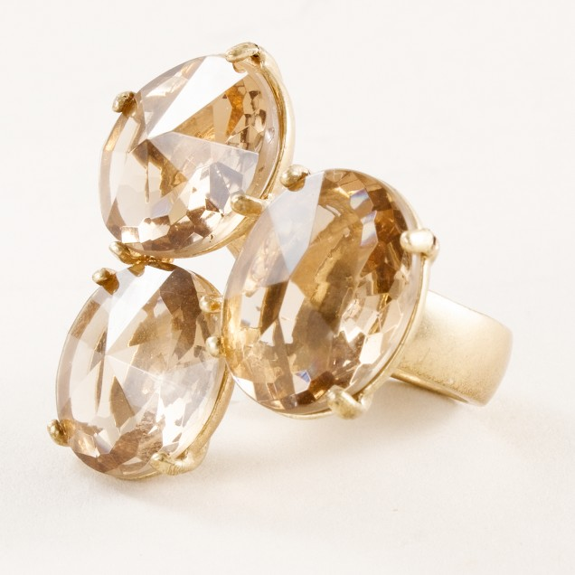 Crystal trinity ring