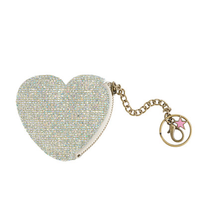 Girls' glitter heart coin purse