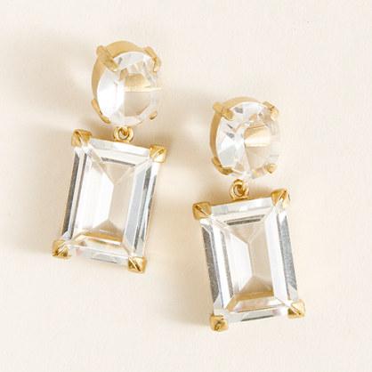 Glass ornament earrings