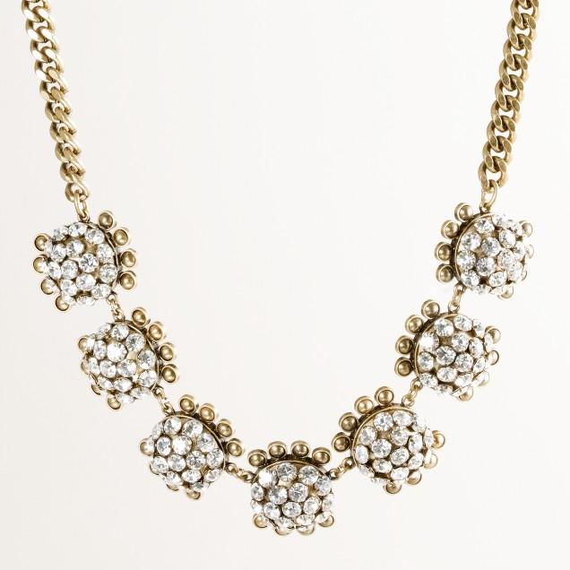 Crystal pebble necklace : | J.Crew