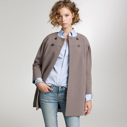 Double-cloth dollop coat