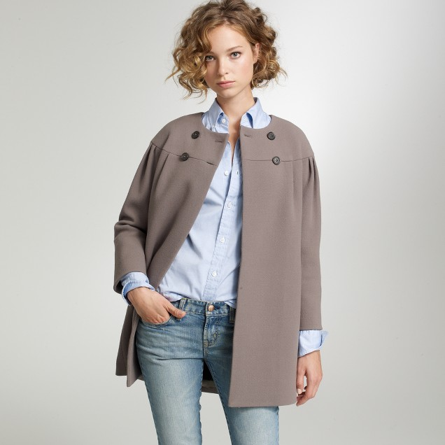 Double-cloth dollop coat