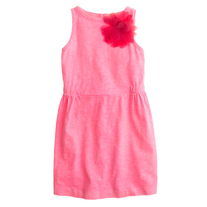 Girls' shirred shift dress