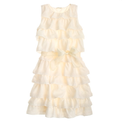 Girls' tulle-trimmed cupcake dress