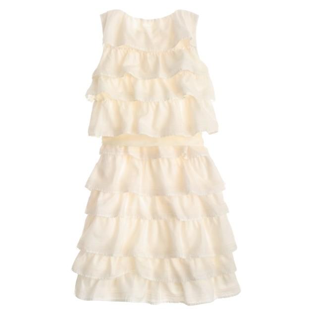 Girls' tulle-trimmed cupcake dress