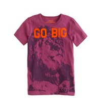 Boys' go big lion tee