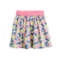 Girls' garden floral skirt