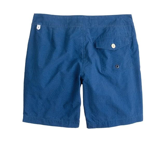 """7"""" board shorts in indigo blue dot"""