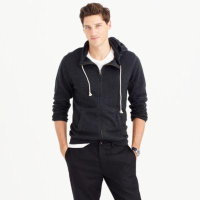 Cotton-cashmere zip hoodie
