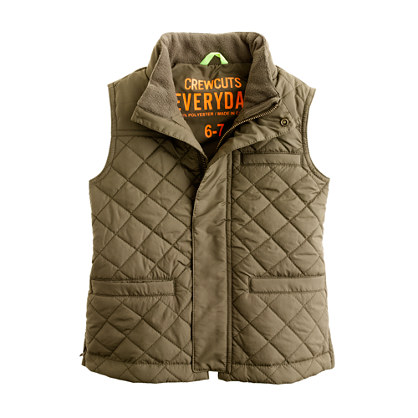 Boys' quilted vest
